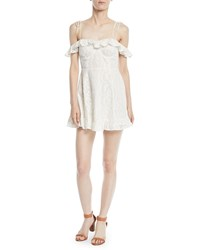 Lovers Friends Kate Off The Shoulder Ruffle Eyelet Dress Ivory