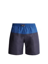Stella Mccartney Mid Rise Panelled Swim Shorts Blue Multi