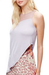 Free People Women's Riley Chiffon Tank Lilac