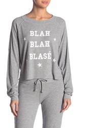 Wildfox Couture Monte Crop Blah Blah Blase Top Heather