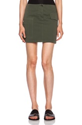 Band Of Outsiders Cotton Cargo Mini Skirt In Green