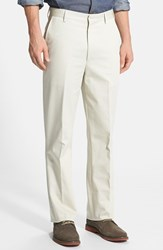 Men's Big And Tall Berle Wrinkle Resistant Cotton Trousers Stone