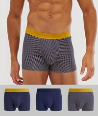 New Look Underwear With Spots In Mustard 3 Pack Yellow Pattern