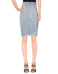 Jeremy Scott Denim Denim Skirts Women Blue
