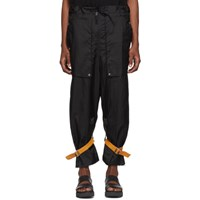 Bed J.W. Ford Black Cargo Trousers