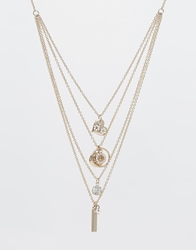 Lipsy Fine Layer Necklace Gold