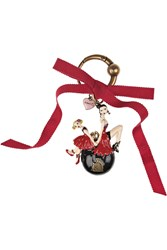 Lanvin Doll 14 Metal Key Fob Tomato Red