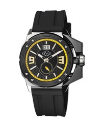 Gv2 42Mm Grande Men's Watch W Silicone Strap Black