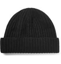 Ovadia And Sons Ribbed Cashmere Beanie Black