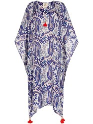 Figue Eliza Printed Kaftan Blue