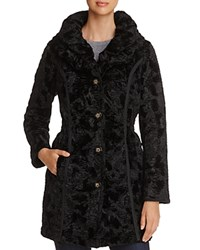 Laundry By Shelli Segal Reversible Faux Shearling And Puffer Coat Black