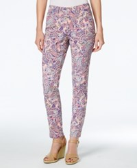 Charter Club Petite Bristol Printed Skinny Ankle Jeans Only At Macy's Dark Sorbet Combo