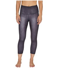 Lucy Indigo High Rise Yoga Capri Leggings Black Indigo Women's Casual Pants