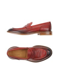Doucal's Footwear Moccasins Men Brick Red