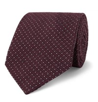 Tom Ford 8Cm Wool And Silk Blend Tie Burgundy