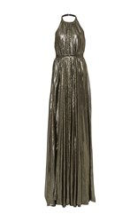 Hensely Trapeze Halter Gown Metallic