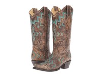 Corral Boots E1014 Bronze Turquoise Women's Black