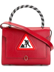 Anya Hindmarch Small 'Men At Work Bathurst' Tote Red