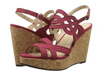 Adrienne Vittadini Camber Red Nubuck Women's Wedge Shoes