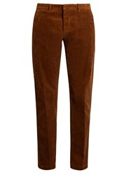 Ami Alexandre Mattiussi Seamless Cotton Corduroy Trousers Brown