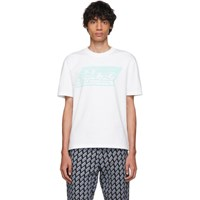 Mcq By Alexander Mcqueen White Logo Dropped Shoulder T Shirt