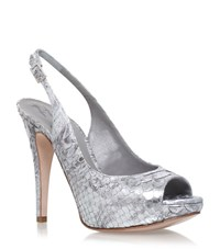 Gina Boa Peep Toe Court Shoes Female Silver