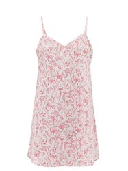 Derek Rose Ledbury Aquatic Print Cotton Nightdress Pink