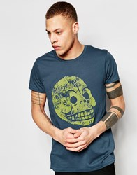 Cheap Monday T Shirt Cap Moon Skull Print In Blue Blue