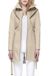 Soia And Kyo Women's Arabella Utility Trench Coat Oatmeal