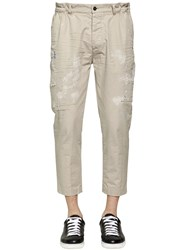 Dsquared Cotton Twill Distressed Chino Pants