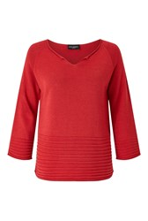 James Lakeland V Neck Knit Jumper Red