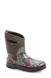 Bogs 'Winterberry' Mid High Waterproof Snow Boot With Cutout Handles Women Grey Multi