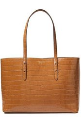Aspinal Of London Woman Regent Studded Croc Effect Leather Tote Camel