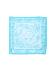 U Ni Ty Square Scarves Sky Blue