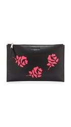 Rochas Rose Cutout Clutch Black