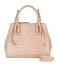 Nancy Gonzalez Medium Crocodile Double Zip Tote Bag Unisex Beige