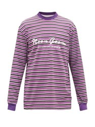 Noon Goons Patricia Cotton Jersey Long Sleeved T Shirt Black Purple