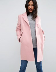 Asos Slim Coat With Pocket Detail Pink