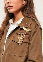 Missguided Gold Western Pin Badge Set