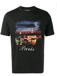 Balenciaga Paris Printed T Shirt Black