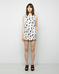 Band Of Outsiders Printed Silk Romper Ivory
