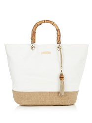 Heidi Klein Savannah Bay Canvas Tote White