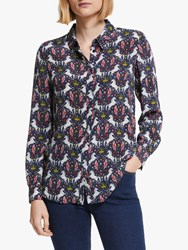 Boden The Silk Shirt French Navy Crown