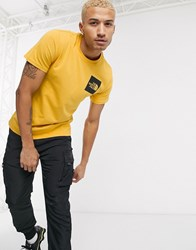 The North Face Fine T Shirt In Yellow