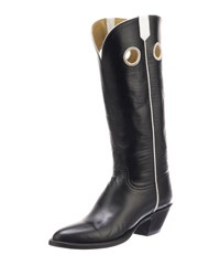 Lucchese Jacqueline Leather Knee Boots Black