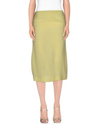 Manila Grace Skirts 3 4 Length Skirts Women Light Yellow