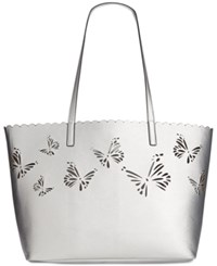 Inc International Concepts Melly Butterfly Tote Only At Macy's Silver
