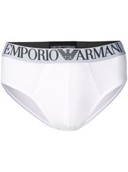 Emporio Armani Logo Band Briefs White