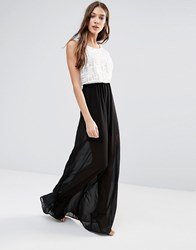Lavand Sheer Maxi Dress White Black