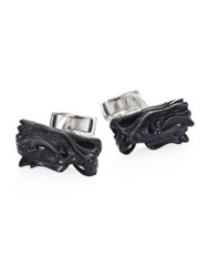 John Hardy Legends Onyx And Sterling Silver Cuff Links Black